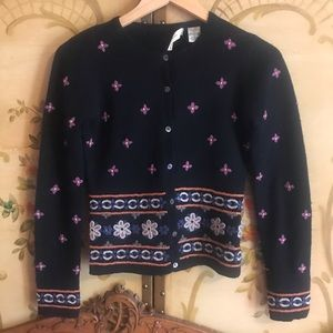 ✨Anthropologie Wool Embroidered Floral Sweater
